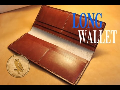 Making a Leather Long Wallet (Simple)