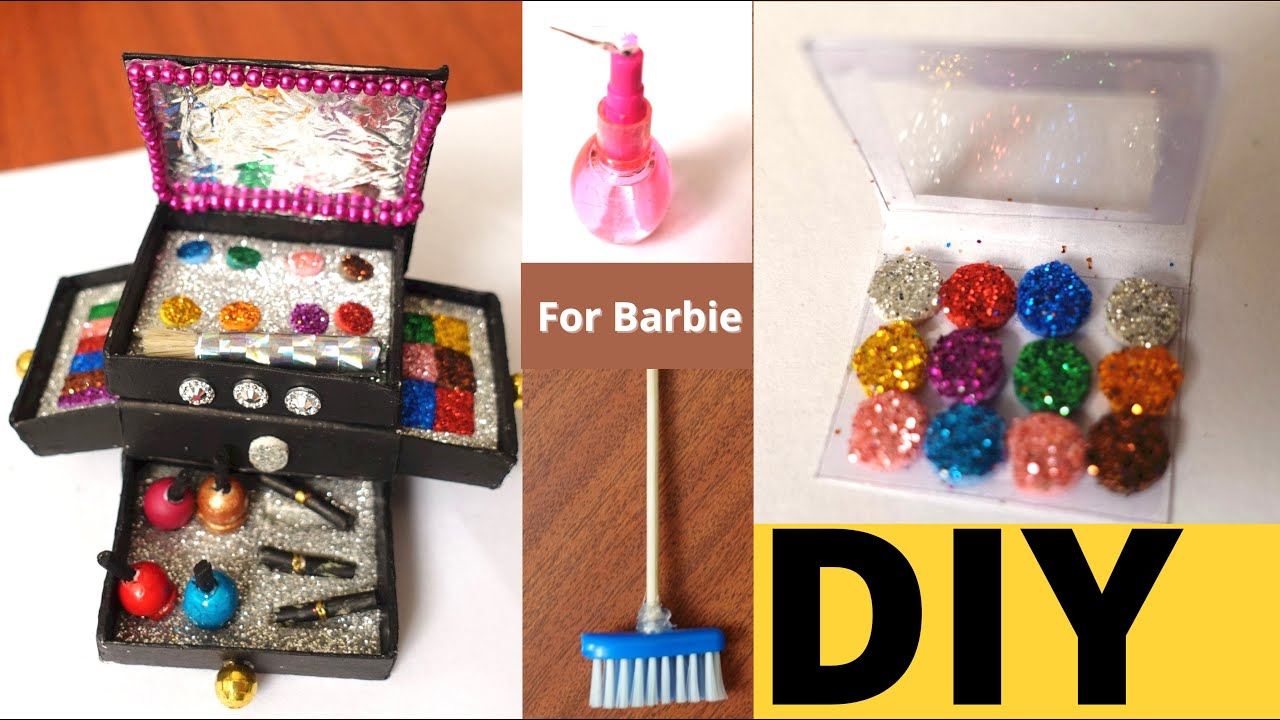 Homemade Barbie Doll Accessories | Barbie Doll Dressing Table DYI | #LearnWithPari #Aadyansh