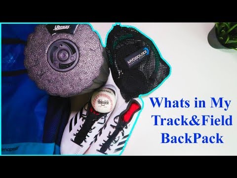 What's in My Track & Field Backpack!!!