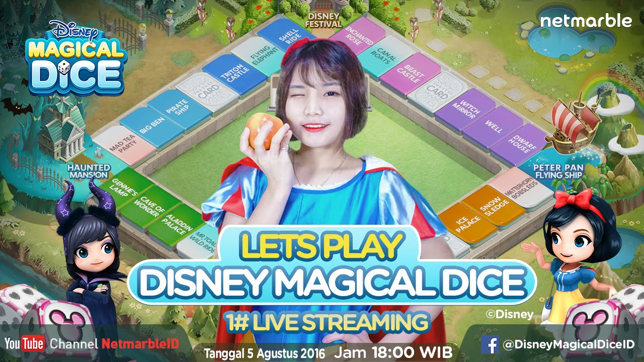 Disney Magical Dice 1st Live Streaming - YouTube