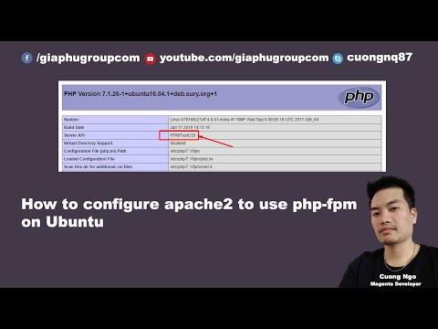 How to configure apache2 to use php-fpm on Ubuntu