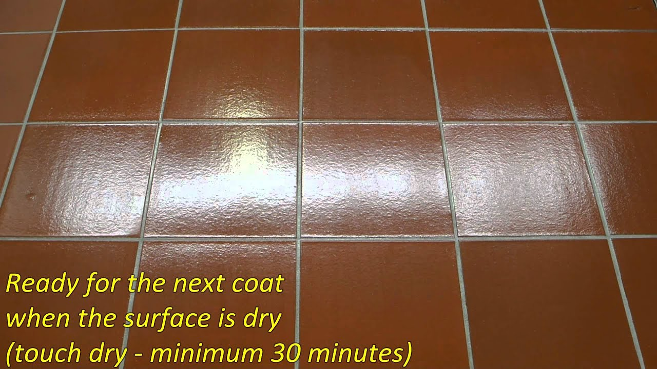 how to apply a high gloss finish aqua seal sts