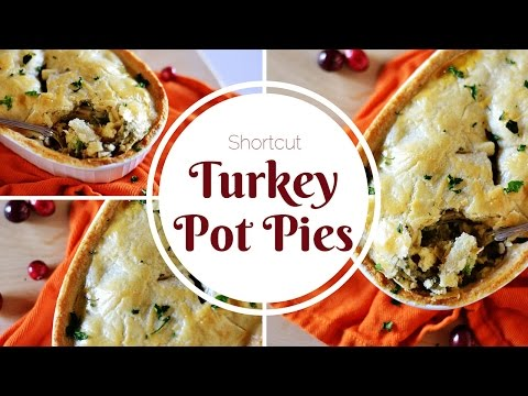 Shortcut Turkey Pot Pies -- Perfect For Thanksgiving Leftovers!
