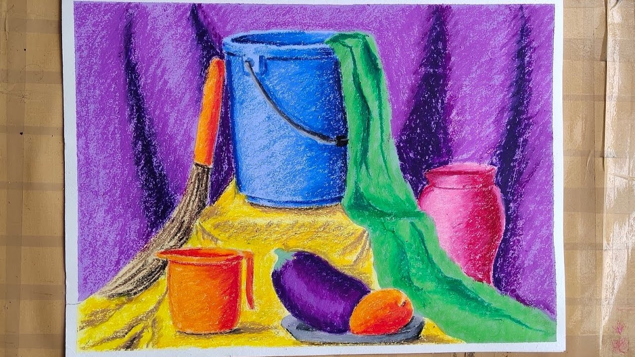 Still life coloring in mix media for intermediate grade ...