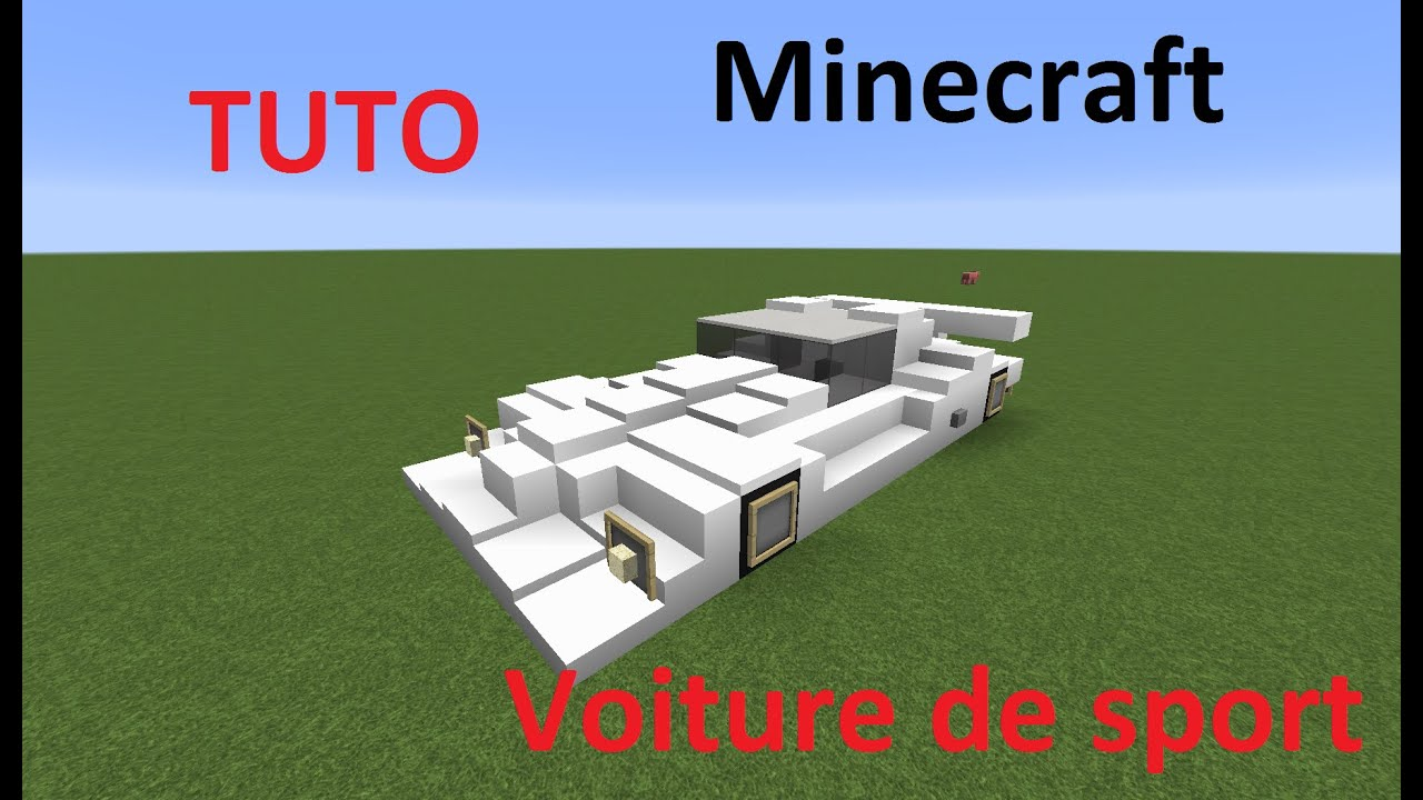 minecraft tuto voiture de sport minecraft sports car youtube. Black Bedroom Furniture Sets. Home Design Ideas