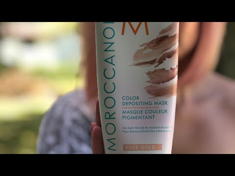 COLORING MY HAIR ROSE GOLD. THE NEW MOROCCANOIL BRAND COLOR DEPOSITING MASK. DOES IT WORK??
