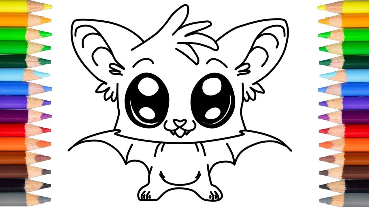 Halloween Tekeningen Maken.Schattige Halloween Vleermuis Tekenen Voor Kinderen