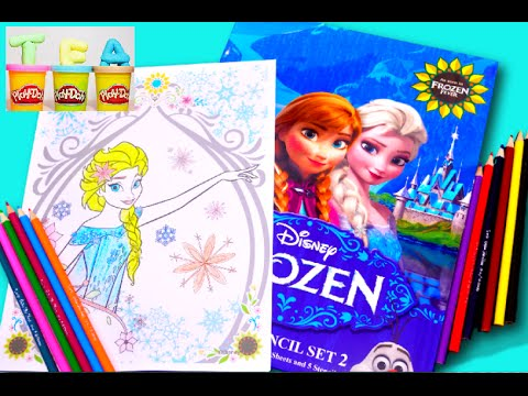Frozen Fever 2 Movie Disney Coloring Book With Sofia The First Colors