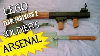 Team Fortress 2: LEGO Soldier's FULL Arsenal! (Rocket Launcher and Shovel)