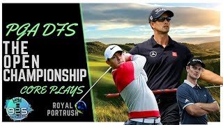 PGA DFS Core Plays: The Open Championship 2019