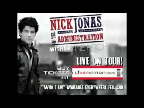 NICK JONAS & THE ADMINISTRATION tour + cd + some previews