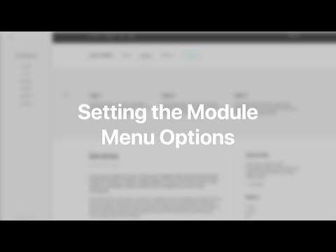 Setting The Module Menu Options   YOOtheme Documentation (Joomla)