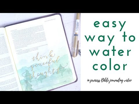 Easy Bible journaling with watercolor -In process Bible journaling