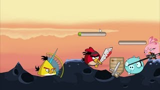 Angry Birds Ultimate Battle - ALL BIRDS SURROUND ICE PIGGIES!