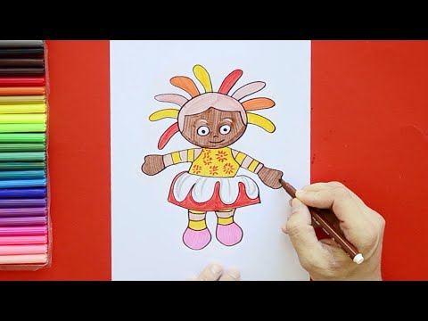 How To Draw Upsy Daisy - In The Night Garden