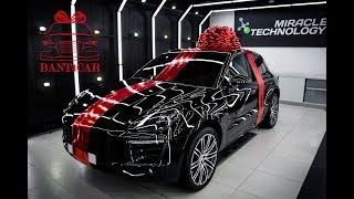 Большой подарочный бант на машину   Как украсить машину в подарок