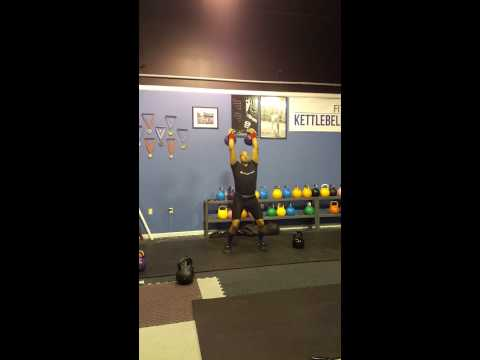 Jerk training 4min. 20kg