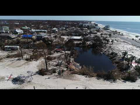 Mexico Beach Post Hurricane Michael UAV