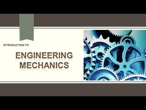 Introduction to Engineering Mechanics or Classification of Mechanics