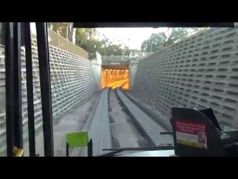 Adelaide O-Bahn Route No.501  Driving View City To Walkleys Road Bus Stop