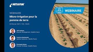 Webinaire : Les solutions en micro-irrigation pour les pommes de terre.
