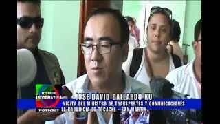 JOSE DAVID GALLARDO KU  EL MINISTRO DE TRANSPORTES Y COMUNICACIONES