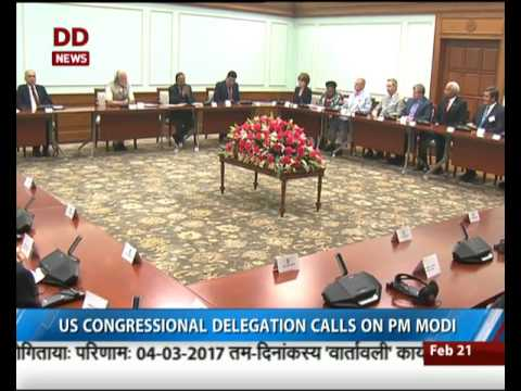 US Congressional delegation calls on PM Modi