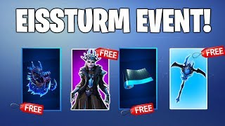 FREE SKINS COME! Free skins, gliders and more! Fortnite Ice Storm Challenge