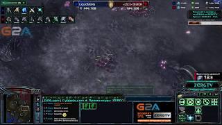 �������� ���� Русский терран Brat_OK vs Польского игрока Mana - StarCraft 2 c ZERGTV ������