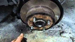 Замена тормозных колодок стояночного тормоза на Mitsubishi Galant 8 by RK|Zver