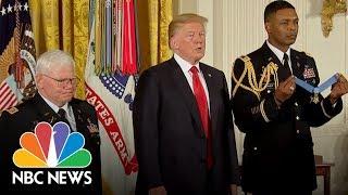 President Donald Trump Awards Medal Of Honor To Vietnam Army Medic Gary Rose   NBC News