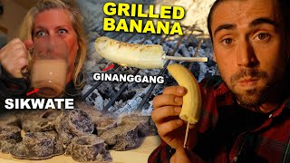 Cooking Raw Cacao & Grilled Banana From The Philippines For My Canadian Mom (Beach Front Grilling)