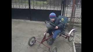 видео: Самодельный вело-мобиль =)