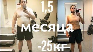 Как похудеть на 25 кг за 1,5 месяца