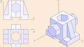 Perspectiva isométrica paso a paso
