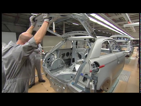 All new Audi A1 Production Plant Brussels 2010