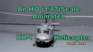 Working HO Scale (1/87) DCC Controlled Helicopter