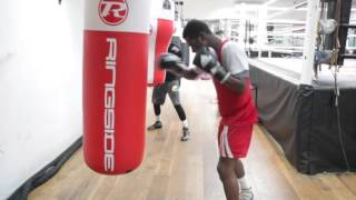 UNDEFEATED CONTENDER RICHARD COMMEY SMASHES THE HEAVYBAG @ PRO SW GYM