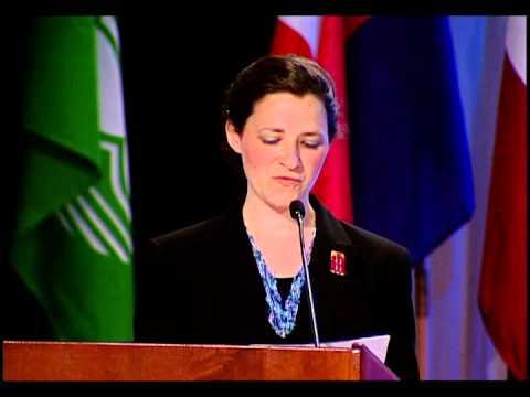 Michelle Kuhar, 2013 Jane M. Klausman Recipient, speaks at Zonta International's 2014 Convention