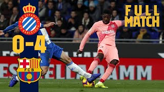 FULL MATCH: Espanyol 0 - 4 Barça (2018) Relive the goal-fest in the derby!!