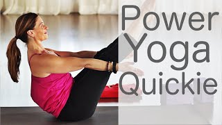 15 Minute Power Yoga Quickie With Fightmaster Yoga