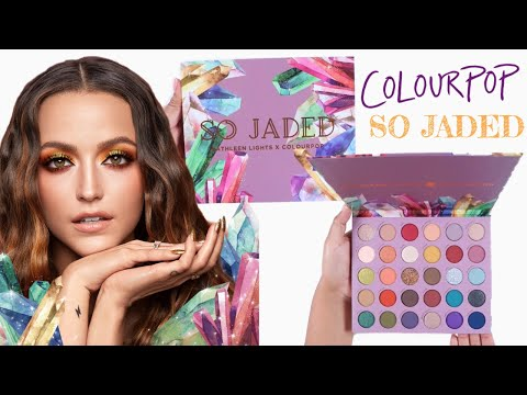 Kathleen Lights x Colourpop SO JADED Eyeshadow Palette Review + Swatches thumbnail