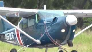 Cessna 206 Soloy Turbine  MSP006 .Aterrizaje y despegue rwy 27! HD