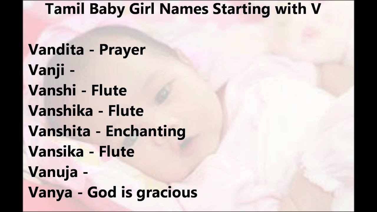 baby girl names starting with an