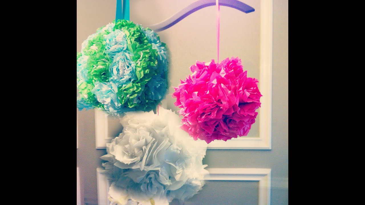 Tissue paper pomanders how to make flower balls diy for Paper decorations diy