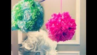 Tissue Paper Pomanders! How To Make Flower Balls! Diy Wedding Decorations!