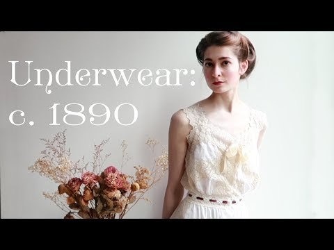 Making Some Frilly Victorian Underwear || 1890s Combinations