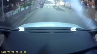 Woman appears to fake road accident thumbnail