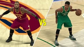 Can Giannis Antetokounmpo Beat Lebron James In a 1v1? NBA 2K17 Gameplay!