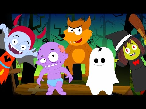 Five Little Monsters | Scary Nursery Rhymes | Helloween Song